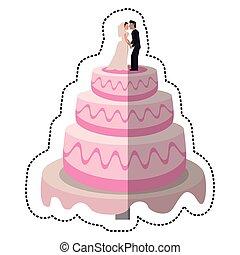 wedding cake couple dessert