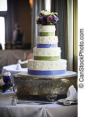 Wedding Cake - Wedding cake with flower topper