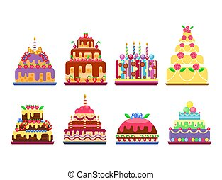 Wedding cake pie hand drawn style sweets dessert bakery ceremony delicious vector illustration.