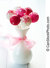 Wedding cake pops - Cake pops for a wedding
