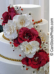 Wedding cake specially decorated. Detail 11