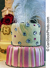 Wedding cake specially decorated. Detail 3