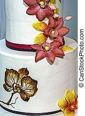 Wedding cake specially decorated. Detail