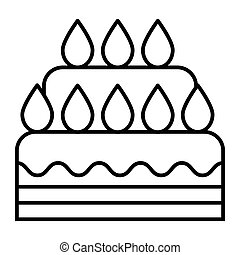 Wedding cake thin line icon. Dessert vector illustration isolated on white. Sweet outline style design, designed for web and app. Eps 10.