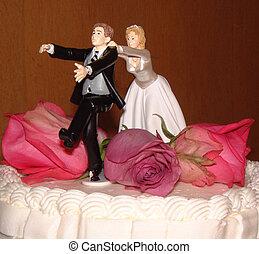 Wedding Cake Topper - A whimisical wedding cake topper,...