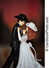 Wedding Cake Topper - A wedding cake topper with a country...