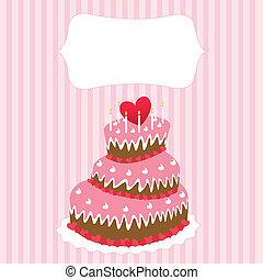 Wedding cake, valentine's day