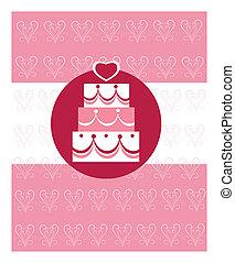 wedding cake, wedding invitation template