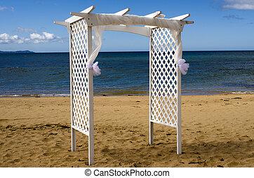 Wedding canopy on the beach