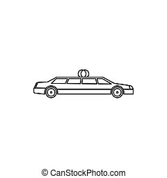 Wedding car icon, outline style