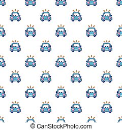 Wedding car pattern seamless