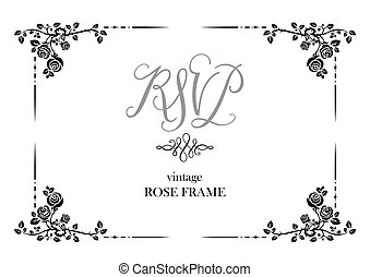 Wedding card of roses