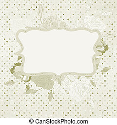 Wedding card or invitation with floral. EPS 8
