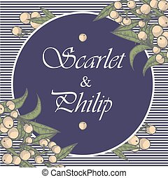wedding card suite with vintage flower Templates -...