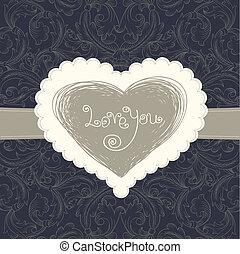 Wedding card template, vector eps10