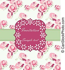 Wedding card with flowers