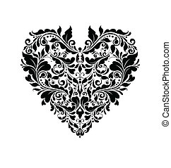 Wedding card with heart shape