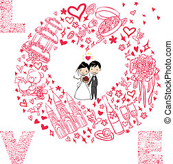 wedding card with wedding set
