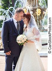 Wedding Caucasian couple