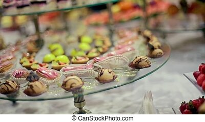 Wedding Celebration Glass Transparent Plate Sweets