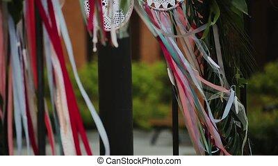 Wedding ceremony arch. - Arch for the wedding ceremony,...