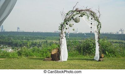 Wedding ceremony arch. - Arch for the wedding ceremony,...