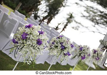 Beautiful outdoor wedding ceremony area.