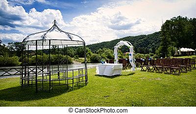 Wedding ceremony - Beautiful outdoor wedding venue in summer