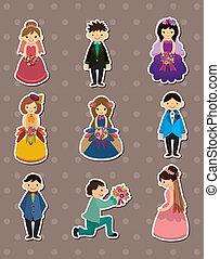 Wedding ceremony - bride and groom stickers
