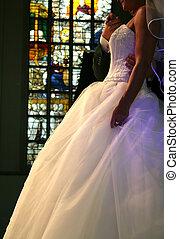 wedding ceremony - couple in church