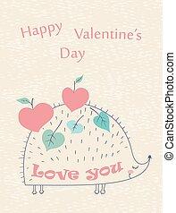 wedding ceremony - Happy Valentine's Day hand drawn card...