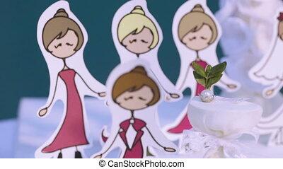 Wedding ceremony - Imitation wedding ceremony cardboard...