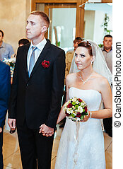 wedding ceremony in a registry office, marriage. - wedding...