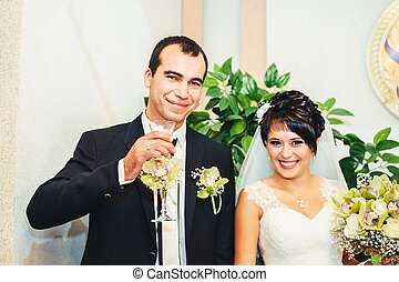 wedding ceremony in a registry office, marriage.