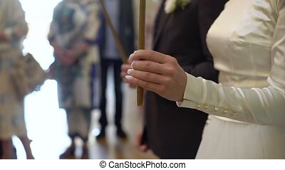 Wedding ceremony in church or cathedral