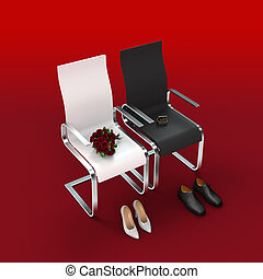 wedding ceremony - metaphorical wedding or register office...