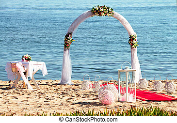 Wedding ceremony on a tropical beac