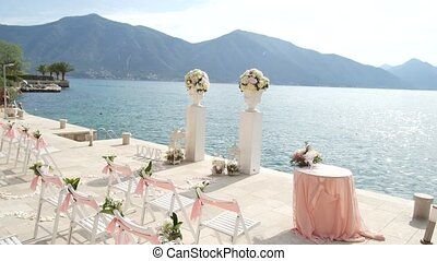 Wedding ceremony on the shore of Lake Como