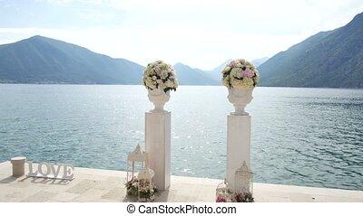 Wedding ceremony on the shore of Lake Como