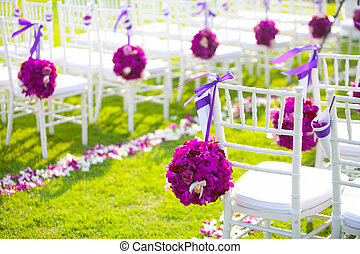 wedding ceremony - Floral arrangement at a wedding ceremony