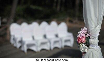 Wedding ceremony place decoration outside