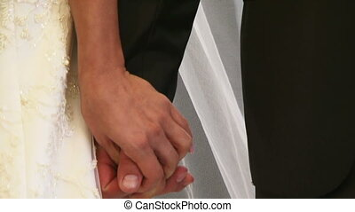 Wedding ceremony - The wedding ceremony, men and women....
