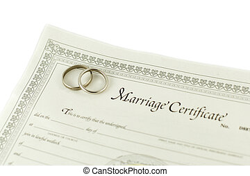 Wedding certificate - Isolated blank certificate with ...
