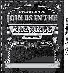 Wedding Chalkboard Invitation