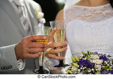 Wedding Champagne & Toast