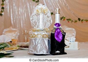 wedding, champagner