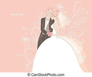 Wedding - Vector illustration of Wedding