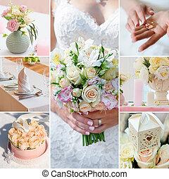 wedding collage brides decor and accessories