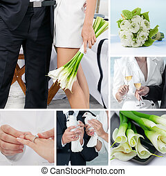 wedding, collage