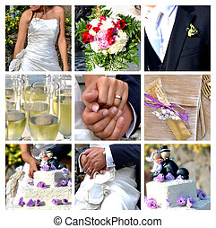 Wedding - Collage - the best moments of the wedding